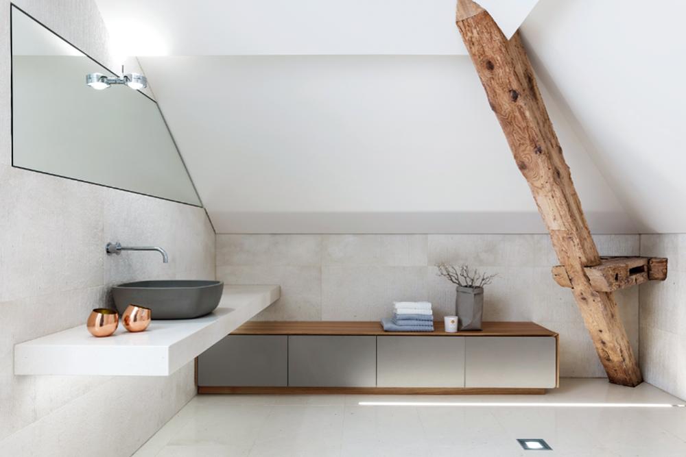 bad unterm dach kirchg ssner bad heizung. Black Bedroom Furniture Sets. Home Design Ideas